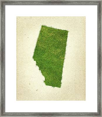 Alberta Grass Map Framed Print by Aged Pixel