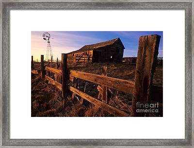 Alberta Homestead Framed Print by Bob Christopher