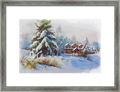 Alberta Landscape 05 Framed Print by Mahnoor Shah