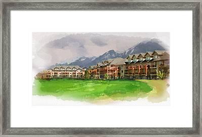 Alberta Landscape 12b Framed Print by Mahnoor Shah