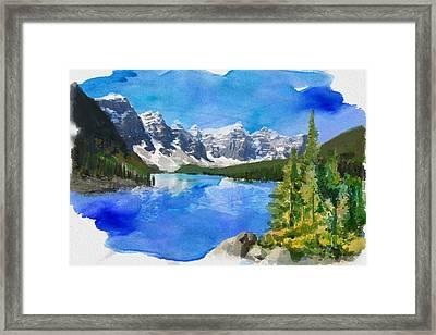 Alberta Landscape 13 Framed Print by Mahnoor Shah