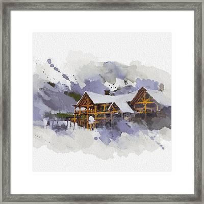 Alberta Landscape 15 Framed Print by Mahnoor Shah