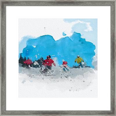 Alberta Landscape 16b Framed Print by Mahnoor Shah