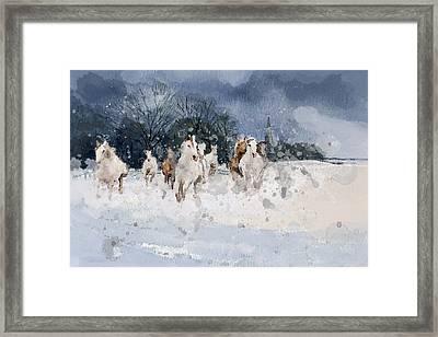 Alberta Landscape 7 Framed Print by Mahnoor Shah