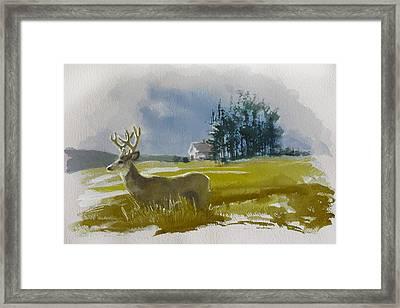 Alberta Landscape 9b Framed Print by Mahnoor Shah