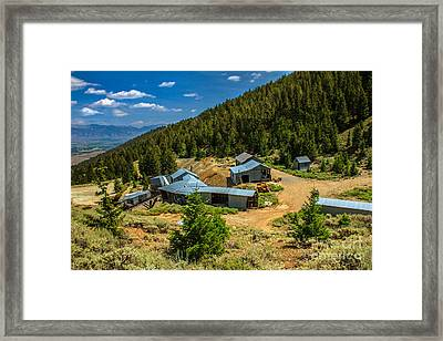 Alberta Level On Mackay Mine Tour Framed Print by Robert Bales