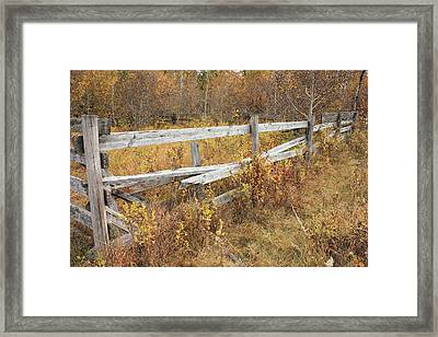 Alberta Ranchlands - Abandoned Corral Framed Print