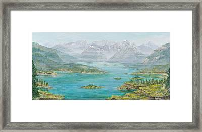Framed Print featuring the painting Alberta Rocky Mountains by Cathy Long