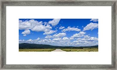 Alberta Sky Framed Print by Marie  Cardona