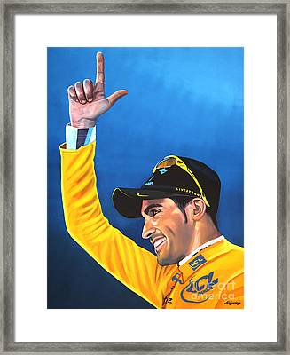 Alberto Contador Framed Print by Paul Meijering