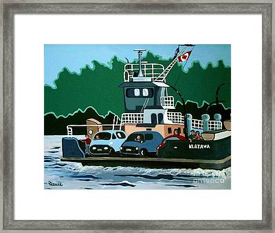 Framed Print featuring the painting Albion Ferry by Joyce Gebauer