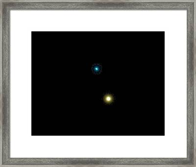 Albireo Double Star System Framed Print by Damian Peach