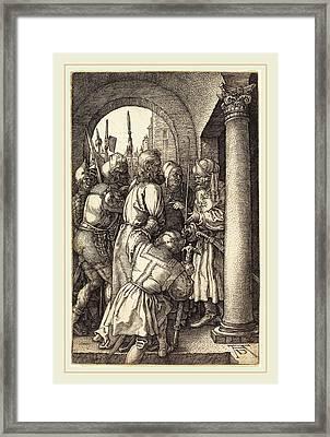 Albrecht Dürer German, 1471-1528, Christ Before Pilate Framed Print by Litz Collection