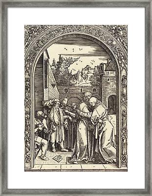 Albrecht Dürer German, 1471 - 1528, Joachim And Anna Framed Print by Quint Lox