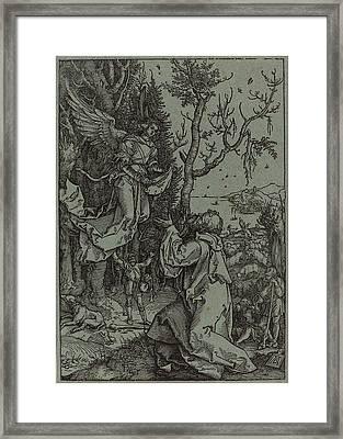 Albrecht Dürer German, 1471 - 1528, Joachim And The Angel Framed Print by Quint Lox