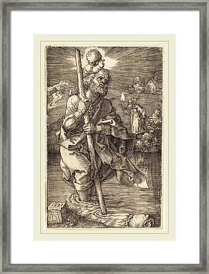 Albrecht Dürer German, 1471-1528, Saint Christopher Facing Framed Print