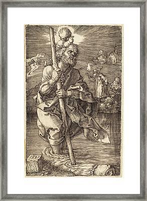 Albrecht Dürer German, 1471 - 1528, Saint Christopher Framed Print
