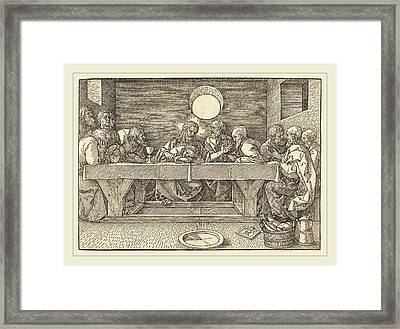 Albrecht Dürer German, 1471-1528, The Last Supper Framed Print