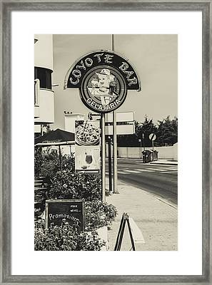 Albufeira Street Series - Coyote Bar I Framed Print by Marco Oliveira