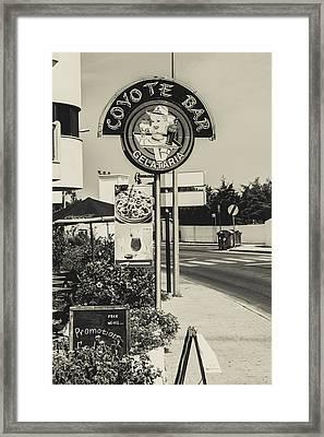 Albufeira Street Series - Coyote Bar I Framed Print