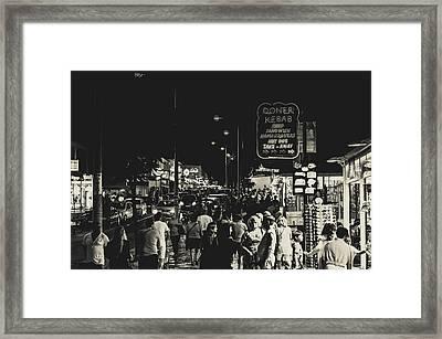 Albufeira Street Series - Doner Kebab I Framed Print by Marco Oliveira