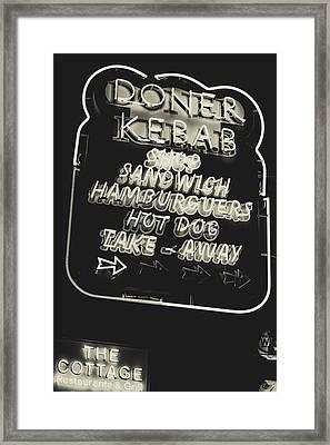 Albufeira Street Series - Doner Kebab II Framed Print by Marco Oliveira