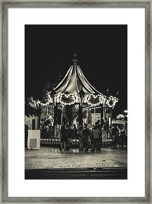 Albufeira Street Series - Merry-go-round Framed Print by Marco Oliveira