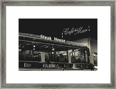 Albufeira Street Series - Steak House Framed Print by Marco Oliveira