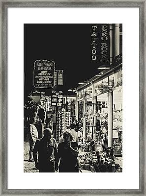 Albufeira Street Series - Tattoo Framed Print