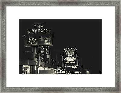 Albufeira Street Series - The Cottage II Framed Print by Marco Oliveira