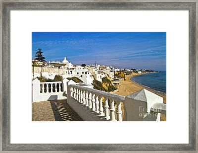Albufeira Village By The Sea Framed Print by Heiko Koehrer-Wagner