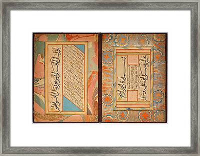 Album Of Calligraphies Framed Print by Celestial Images