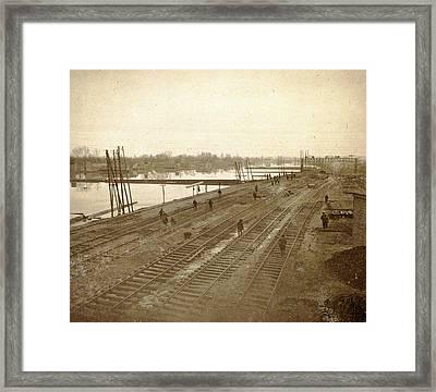 Album Of Flooding Paris Suburbs In 1910, France Framed Print