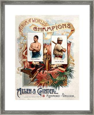 Album Of Worlds Champions Framed Print by Unknown
