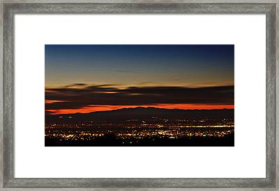 Albuquerque Sunset Framed Print by Marlo Horne