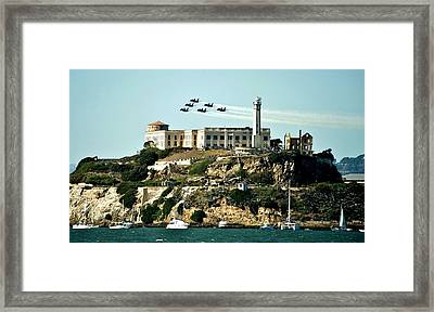 Alcatraz Blues Framed Print by Benjamin Yeager