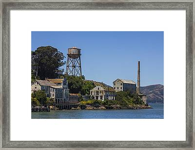 Alcatraz Dock And Water Tower Framed Print by John McGraw