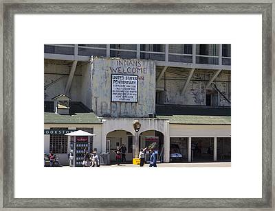 Alcatraz Entrance Indians Welcome Framed Print by John McGraw
