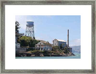Framed Print featuring the photograph Alcatraz by George Mount