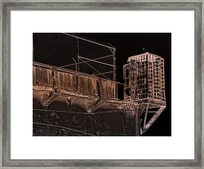 Alcatraz Gun Walk Guard Cage Framed Print by Daniel Hagerman