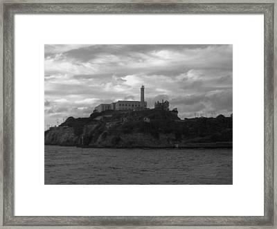 Alcatraz Island B N W Framed Print