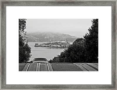 Alcatraz Island From Hyde Street In San Francisco Framed Print by RicardMN Photography