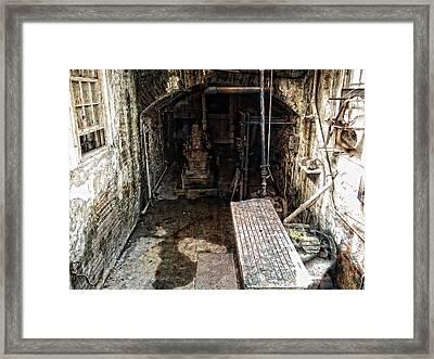 Alcatraz Island Morgue Framed Print by Daniel Hagerman