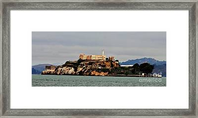 Alcatraz Island - The Rock Framed Print