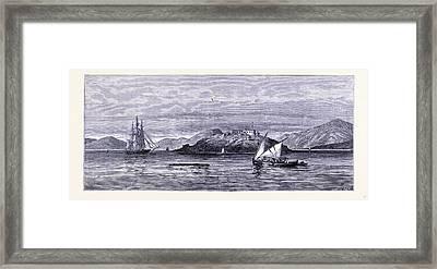 Alcatraz Island United States Of America Framed Print by American School