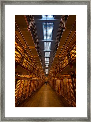 Alcatraz Main Cell Block Framed Print by Steve Gadomski