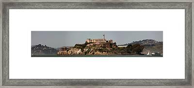 Alcatraz Panorama Framed Print