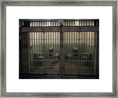 Alcatraz Side-by-side Cells Framed Print by Daniel Hagerman