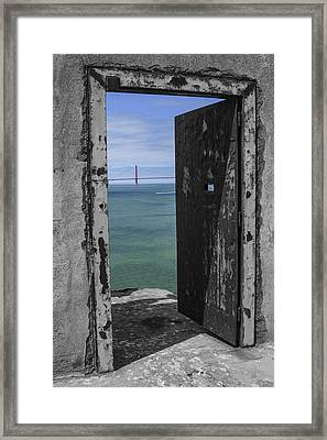 Alcatraz -the Rock Framed Print