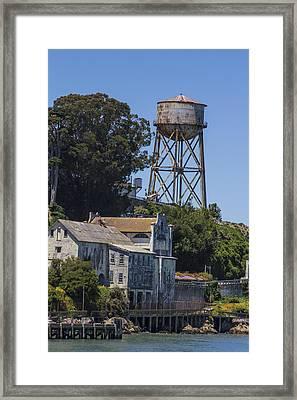 Alcatraz Water Tower Framed Print by John McGraw